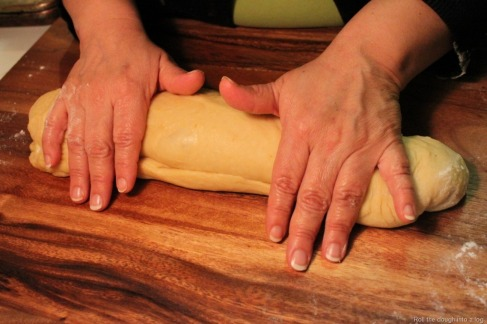 Roll the dough into a log